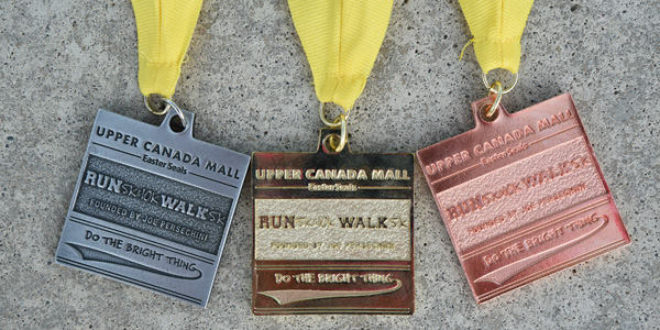 Upper Canada Mall Easter Seals Race Medals